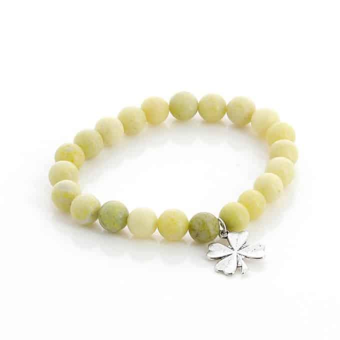 bracelet jaspe jaune