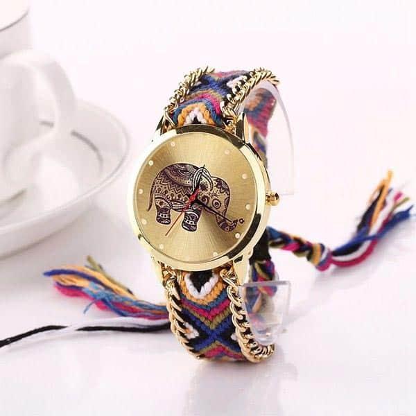 bracelet montre tissu