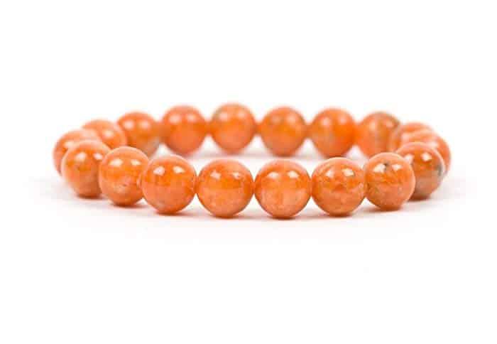 bracelet orange calcite