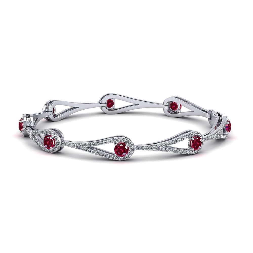 bracelet rubis en argent 925