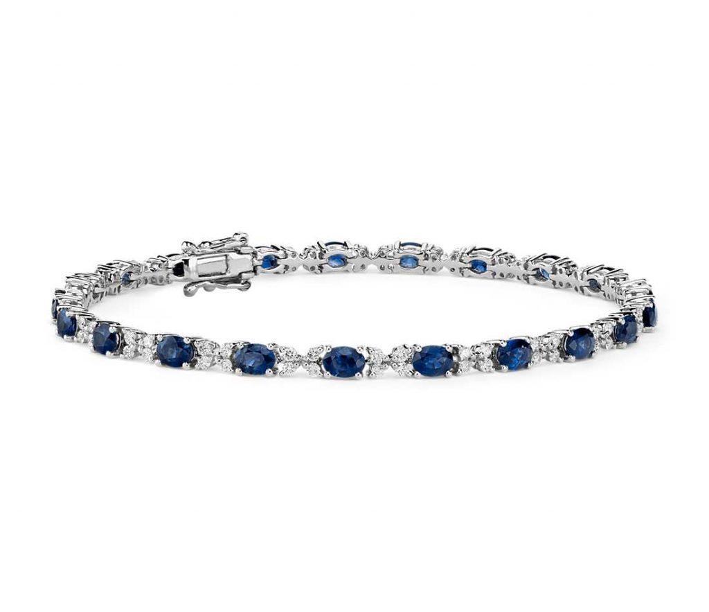 bracelet saphir bleu