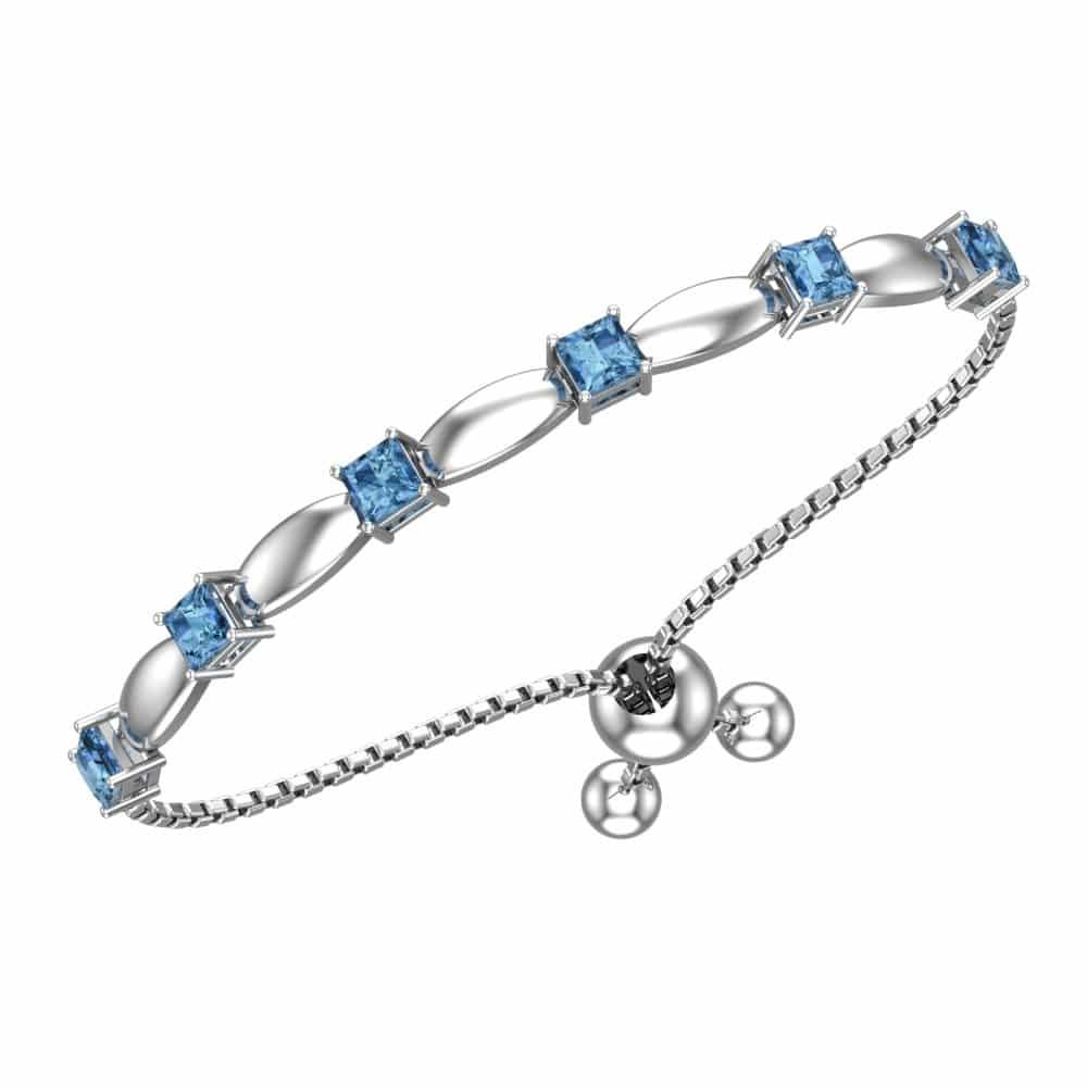 topaze bracelet en argent 925