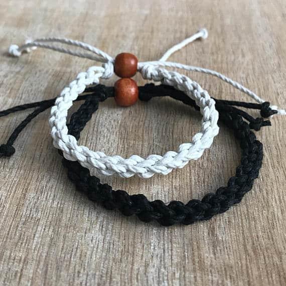 Bracelet Couple Noir et Blanc