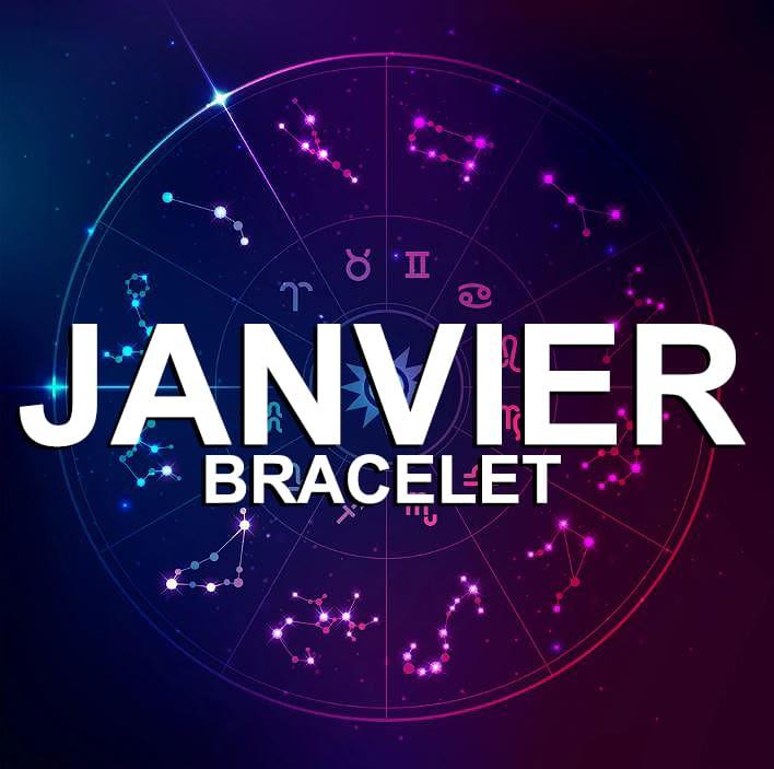 Bracelet Pour Le Signe Du Zodiaque Janvier