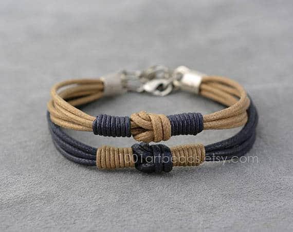 Ensemble Bracelet Longue Distance Noeud Amour