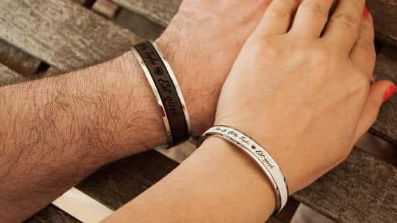 Ensemble Bracelet de Bracelet en Cuir pour Couples