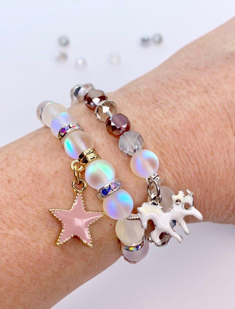 bracelet licorne en perle
