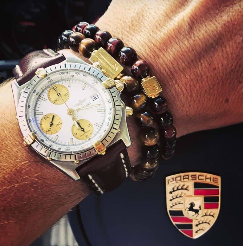 bracelet perle et montre