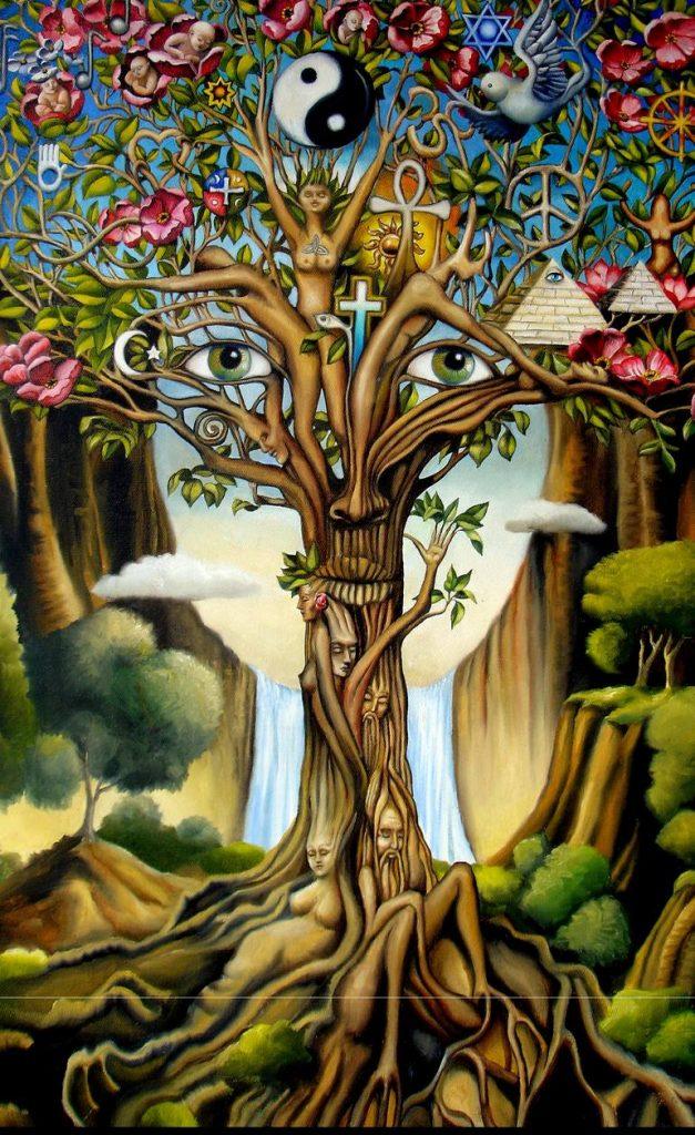 peinture de l'arbre de vie