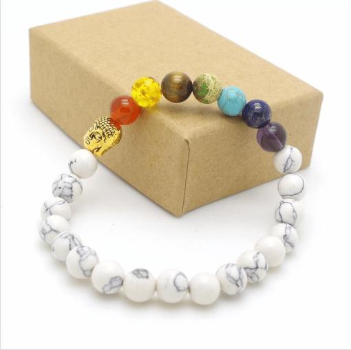Bracelet Perle 7 Chakras Pierre De Cristal