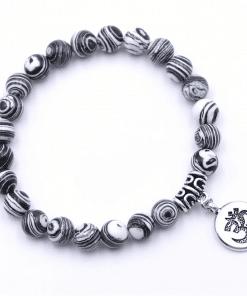 Bracelet Perle Blanches En Argent