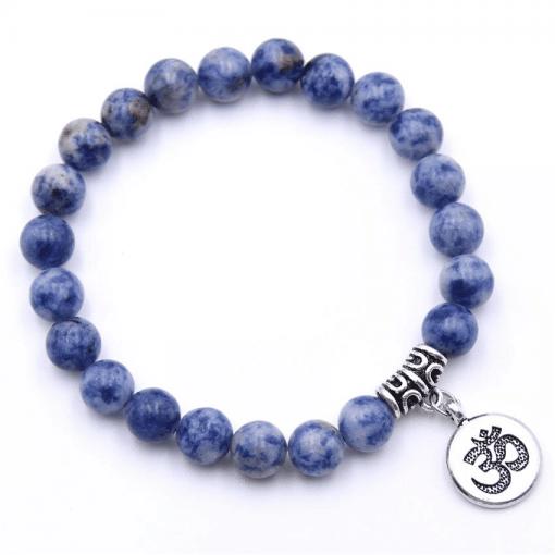Bracelet Perle Bleu En Argent