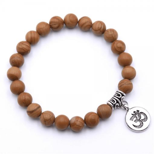 Bracelet Perle Bois De Santal