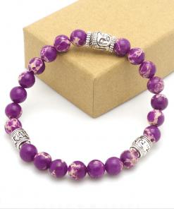 Bracelet Perle Mauve Améthyste