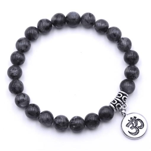 Bracelet Perle Noir En Argent