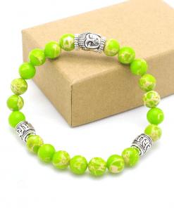 Bracelet Perle Vert Fluo